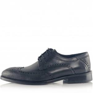 Pantofi eleganți din piele naturală Oxford Negri2
