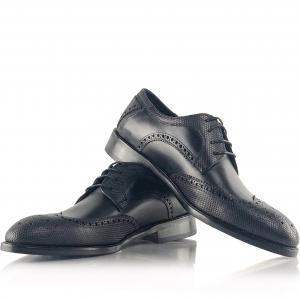 Pantofi eleganți din piele naturală Oxford Negri0