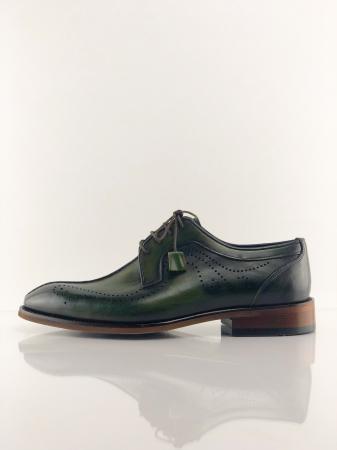 Pantofi eleganți din piele naturală DAVIS - verde închis3