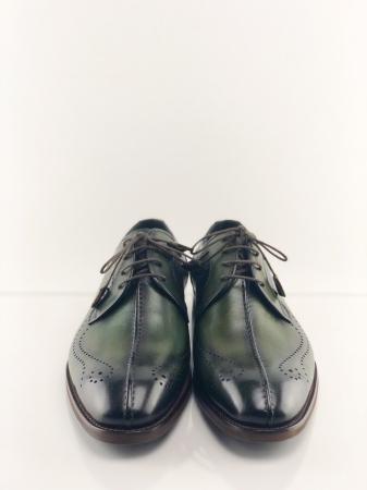Pantofi eleganți din piele naturală DAVIS - verde închis5