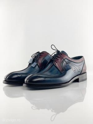 Pantofi eleganți din piele naturală DAVIS - bordeaux4