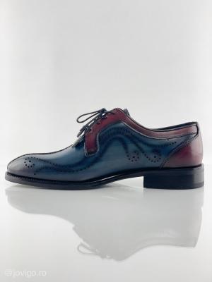 Pantofi eleganți din piele naturală DAVIS - bordeaux3