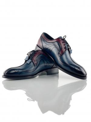 Pantofi eleganți din piele naturală DAVIS - bordeaux1