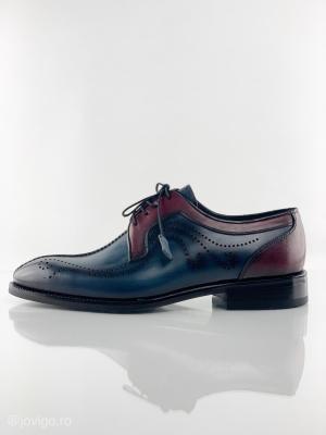 Pantofi eleganți din piele naturală DAVIS - bordeaux5