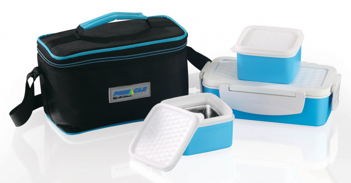 Set Lunch Box Pyramid Thermo, 4 piese, Albastru 0