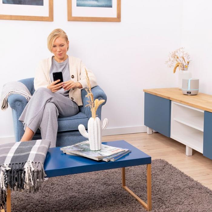 Difuzor aroma cu Ultrasunete Smart PureAroma 500 ml, control Smartphone, 7 culori LED, boxa incorporata - Gri [1]