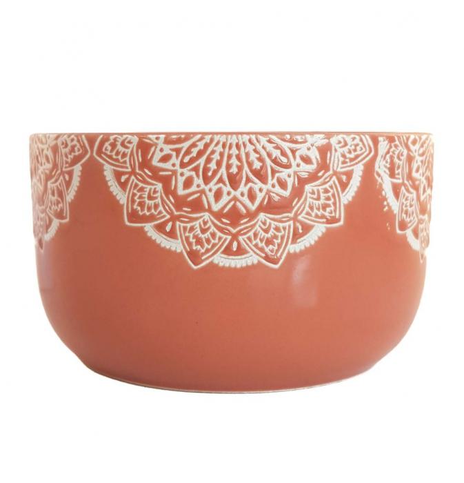 Bol Ceramica MANDALA, 320 ML, culoarea Caramiziu 0