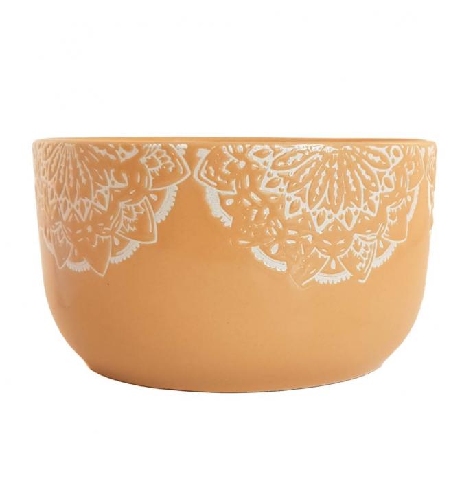 Bol Ceramica MANDALA, 320 ML, culoarea Ocru 0