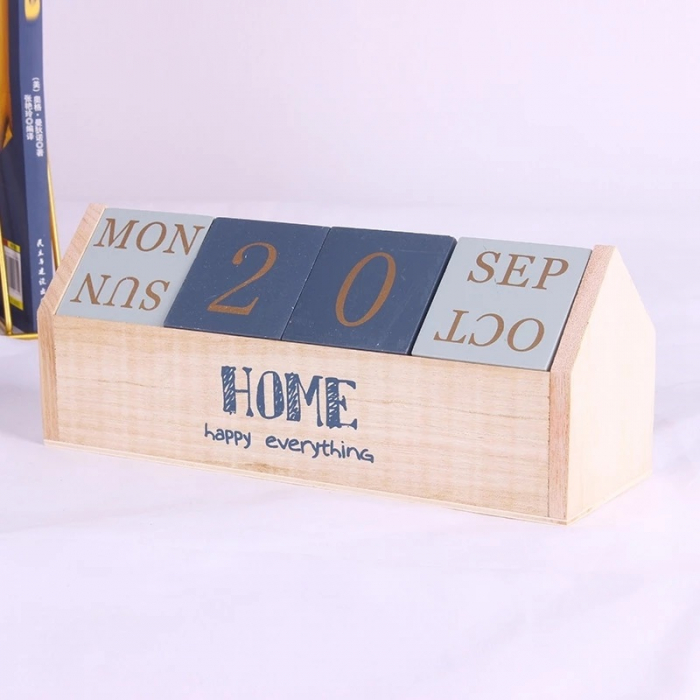Calendar HOME cuburi din lemn, 26 x 8.5 x 10.5 CM 2