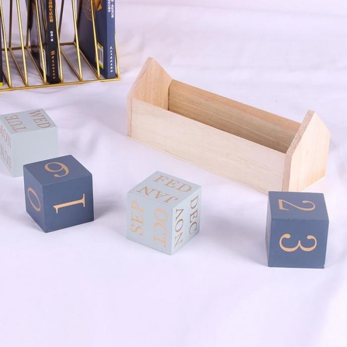 Calendar HOME cuburi din lemn, 26 x 8.5 x 10.5 CM 4