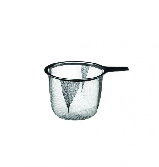 Cana cu infuzor pentru Ceai, 320 ml, Portelan, Negru 2