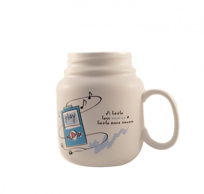 Cana ceramica cu capac Play, 500 ml 0