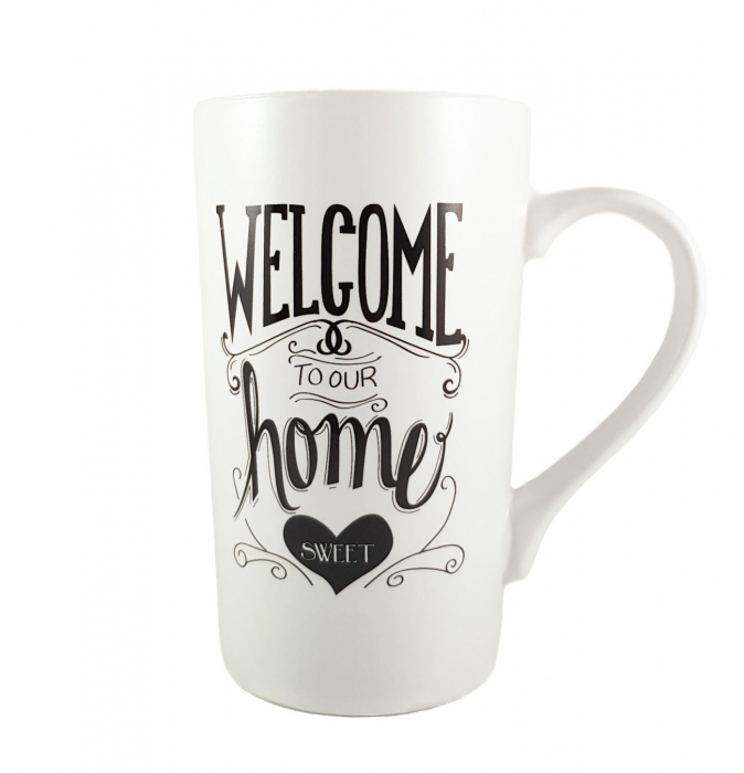 Cana ceramica WELCOME HOME 450 ml 0