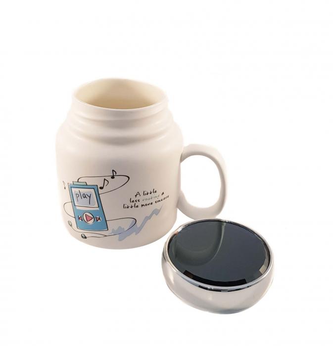 Cana ceramica cu capac Play, 500 ml 1