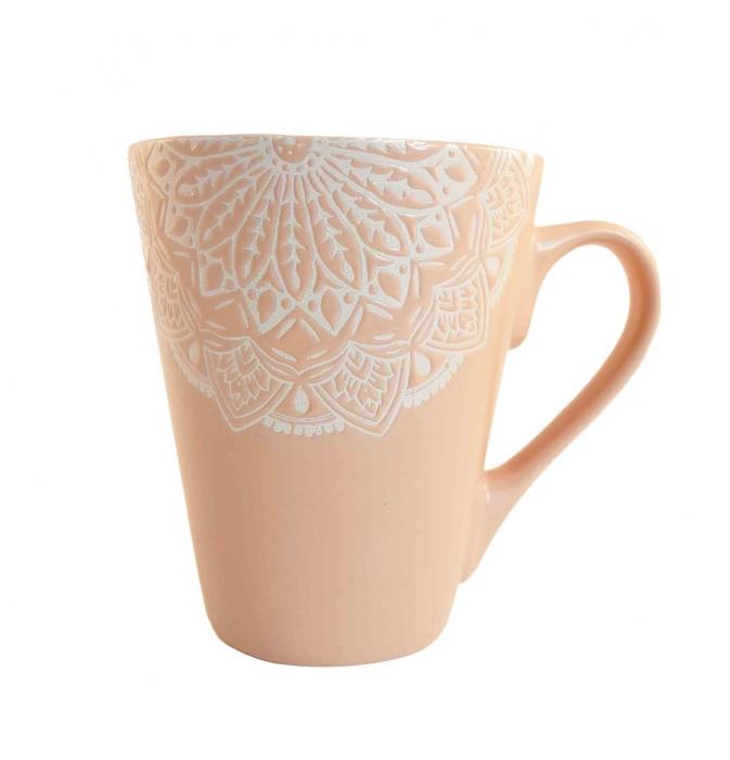 Cana MANDALA, culoare Roz, 300 ml, Ceramica 0