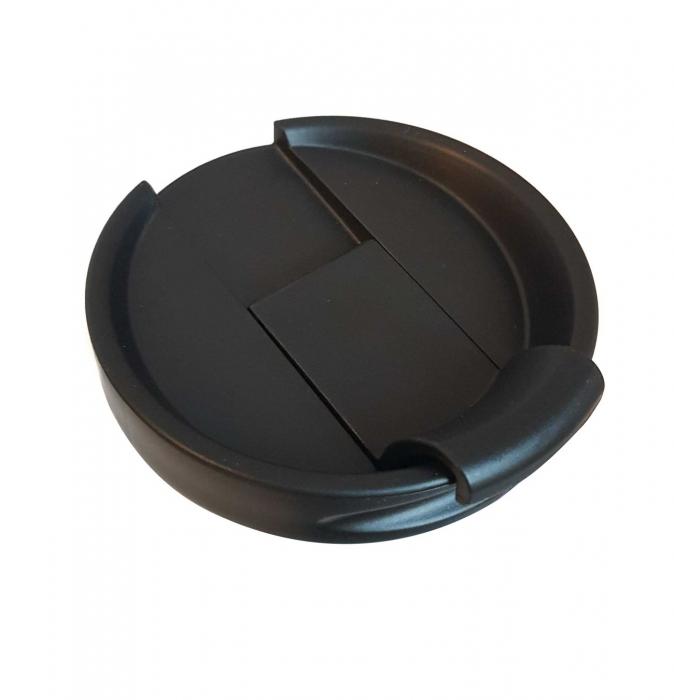 Cana termos din Inox cu perete dublu, Negru, 460 ml 3
