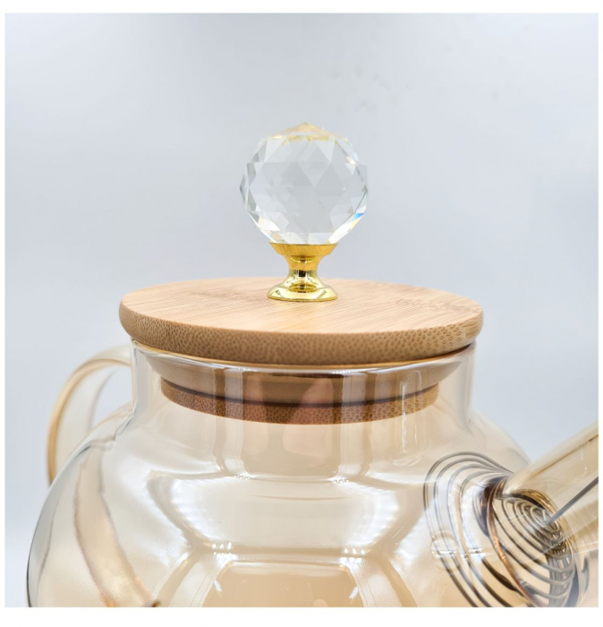 Carafa din sticla Borosilicata, GOLDEN, 1,5 Litri [1]