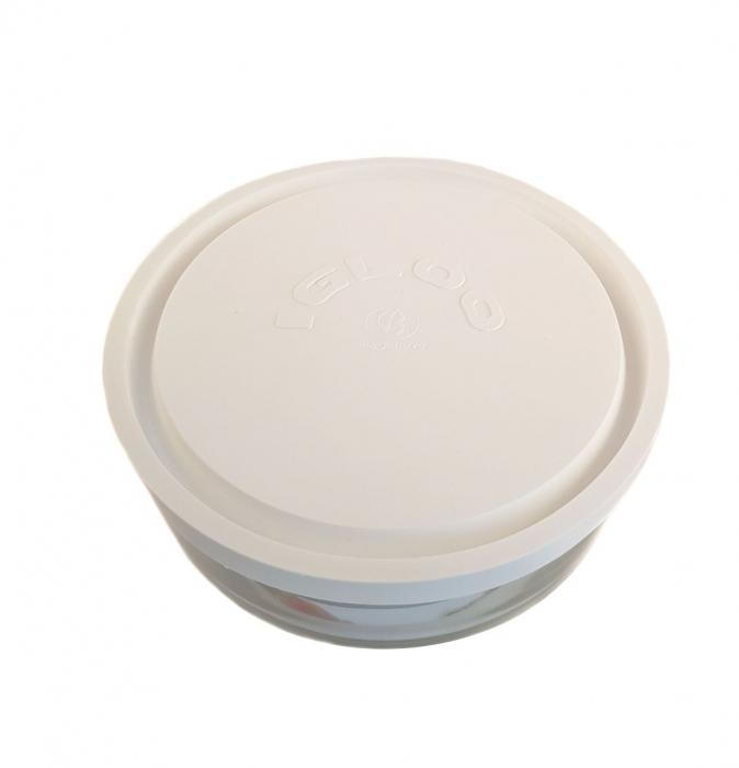 Caserola sticla, capac din plastic, 750 ml, Rotund 1