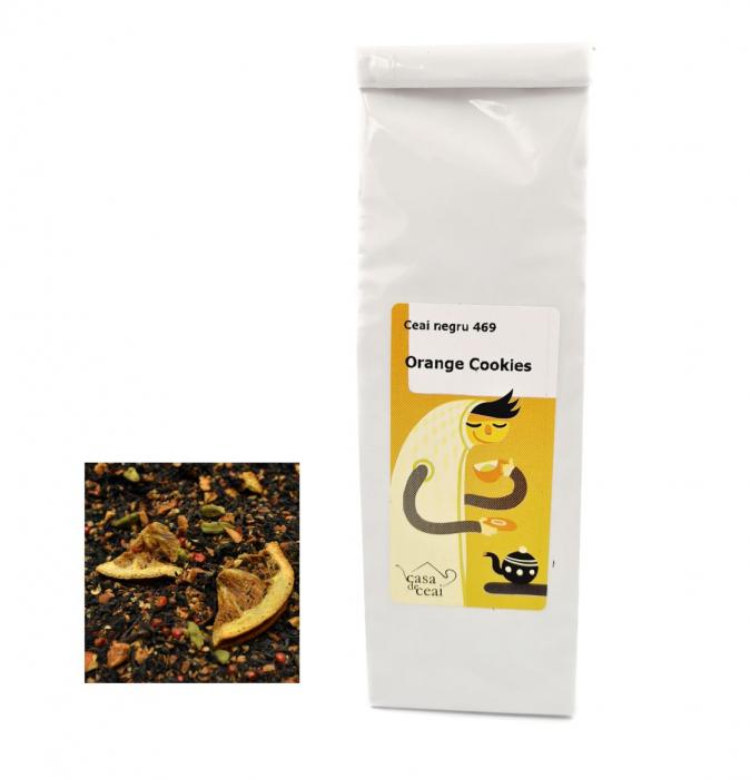 Ceai Negru Orange Cookies 50G 0