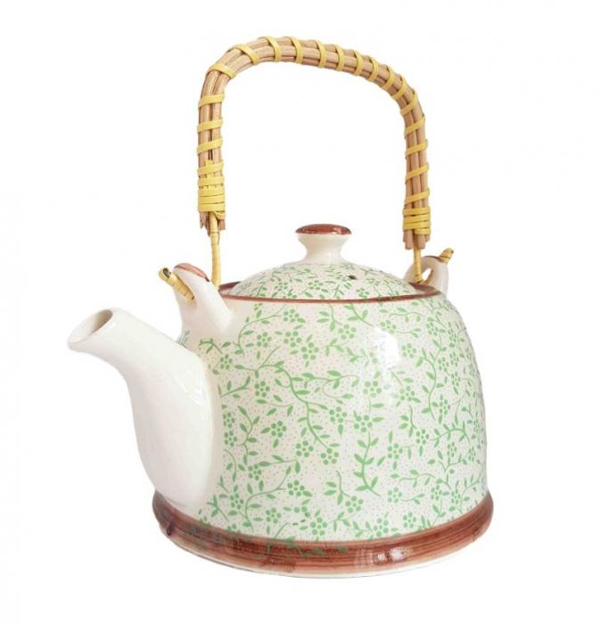 Ceainic-Ceramic-Infuzor-maner-bambus 0