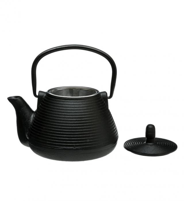 Ceainic din fonta cu infuzor detasabil, Negru, 1 L 1