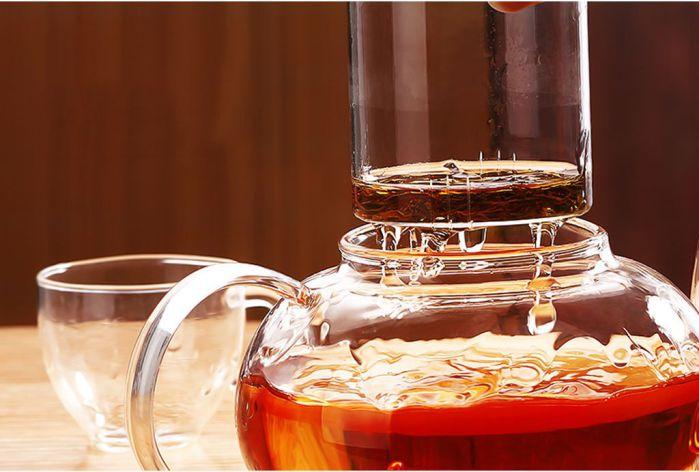 Ceainic din sticla, cu capac si infuzor din sticla, 600 ml 3