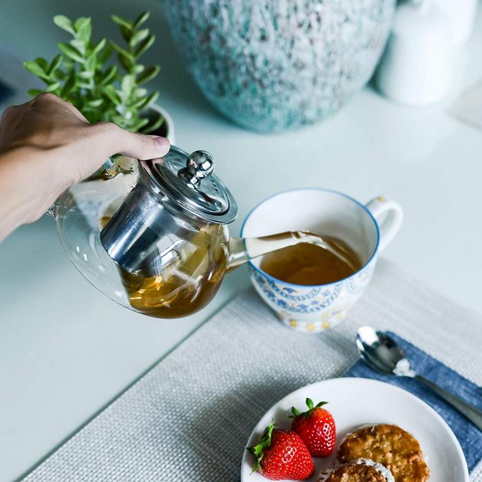 Ceainic din sticla termorezistenta, 850 ml 5