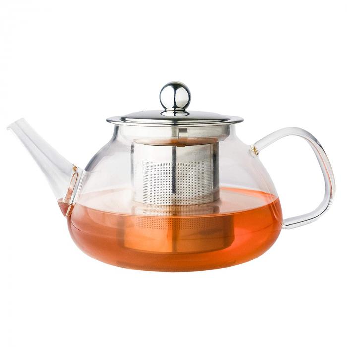 Ceainic din sticla termorezistenta, 850 ml 0
