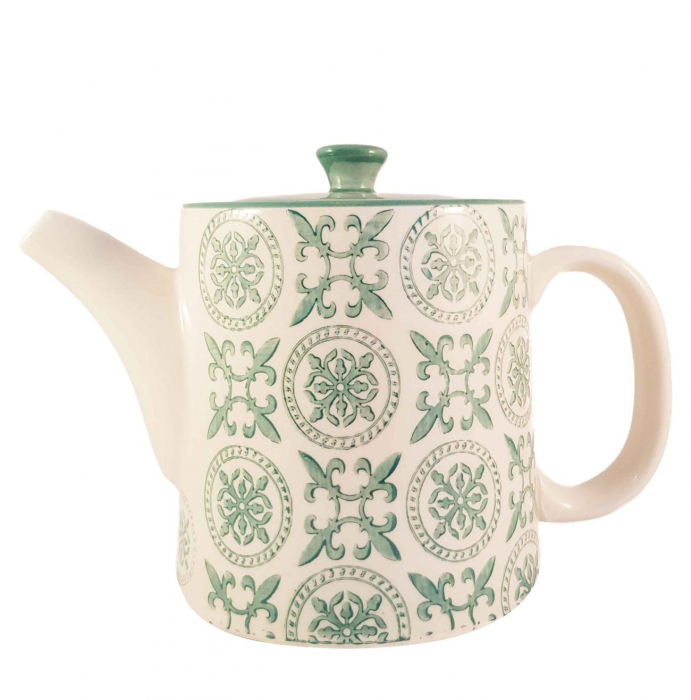 Ceainic French Clasic  din Ceramica, Verde inchis, 700 ml 1