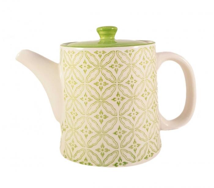 Ceainic French Clasic  din Ceramica, Verde deschis, 700 ml 0