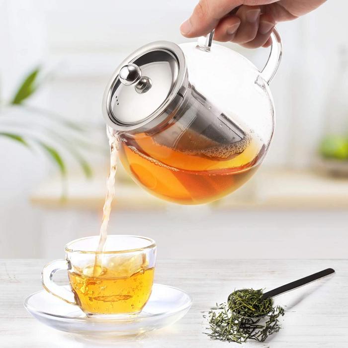 Ceainic din sticla Borosilicata  cu infuzor metalic, 950 ml 3