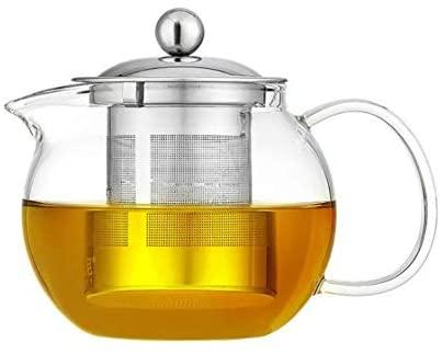 Ceainic din sticla Borosilicata  cu infuzor metalic, 650 ml [0]