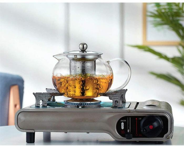 Ceainic din sticla Borosilicata  cu infuzor metalic, 650 ml [1]