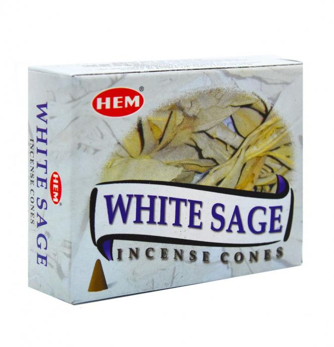 Conuri parfumate HEM WHITE SAGE 10 Bucati [0]