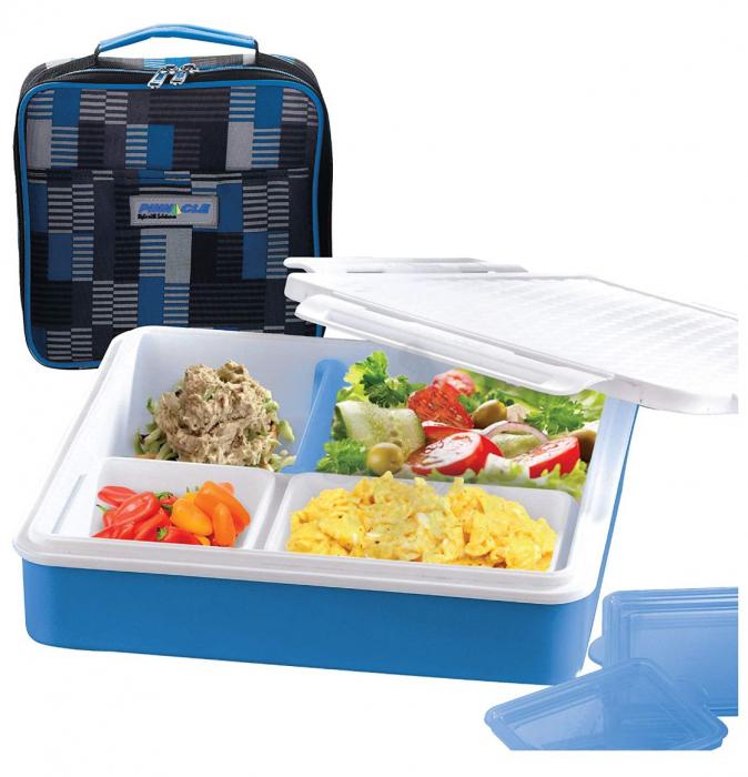 Cutie alimente Lunch Box 4 compartimente, Penta Go, Verde 2