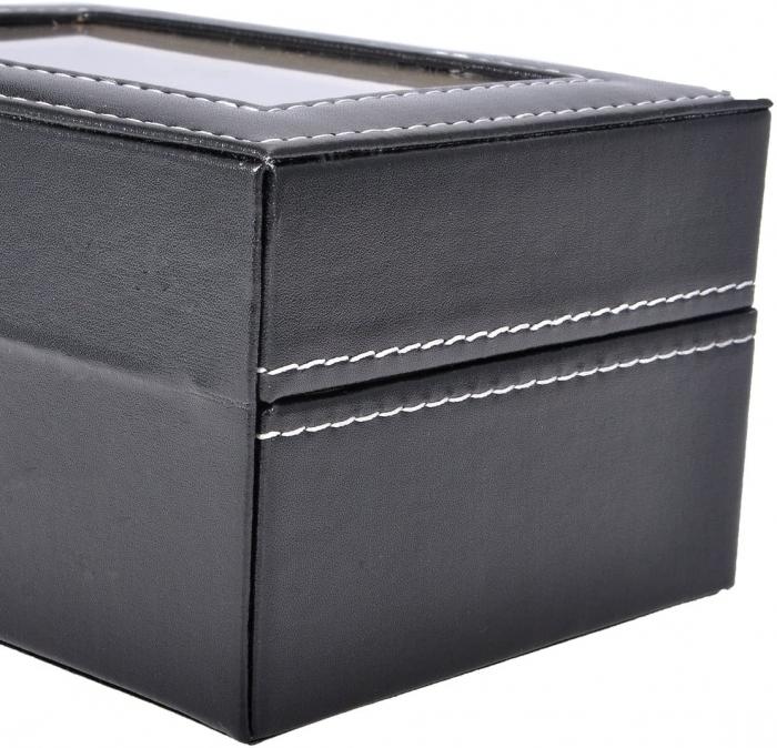 Cutie pentru 3 Ceasuri din piele ecologica 16x11x8 CM 2