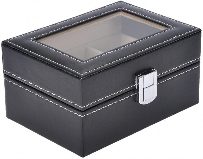 Cutie pentru 3 Ceasuri din piele ecologica 16x11x8 CM 1