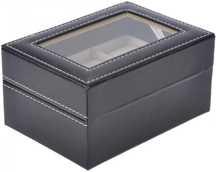 Cutie pentru 3 Ceasuri din piele ecologica 16x11x8 CM 3