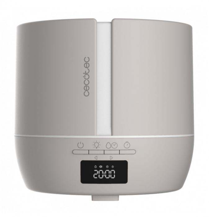 Difuzor aroma cu Ultrasunete Smart PureAroma 500 ml, control Smartphone, 7 culori LED, boxa incorporata - Gri [3]