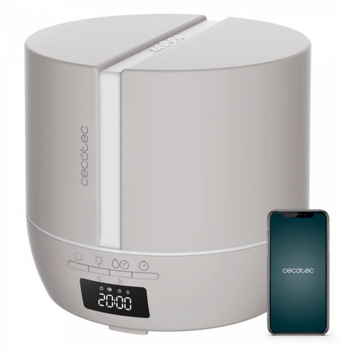 Difuzor aroma cu Ultrasunete Smart PureAroma 500 ml, control Smartphone, 7 culori LED, boxa incorporata - Gri [0]