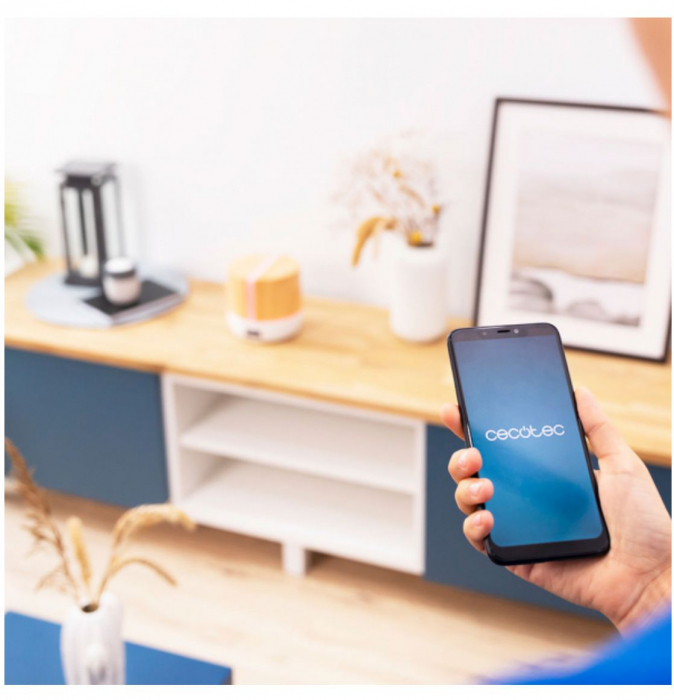 Difuzor aroma cu Ultrasunete Smart PureAroma 500 ml, control Smartphone, 7 culori LED, boxa incorporata - Stejar 4