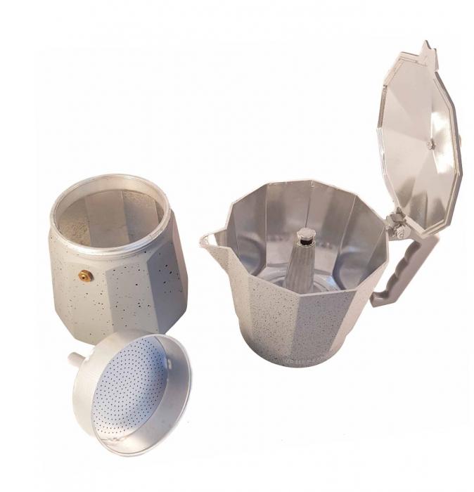 Espressor manual de cafea, GRANIT 12 CUPS, Aluminiu