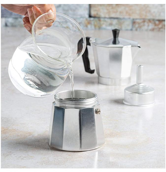 Espressor manual de cafea, 12 CUPS, Aluminiu 1