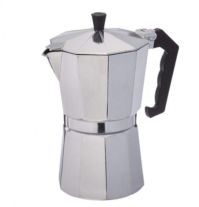 Espressor manual de cafea, 12 CUPS, Aluminiu 0