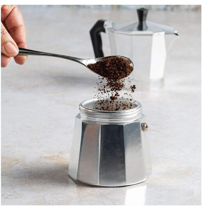 Espressor manual de cafea, 12 CUPS, Aluminiu 2