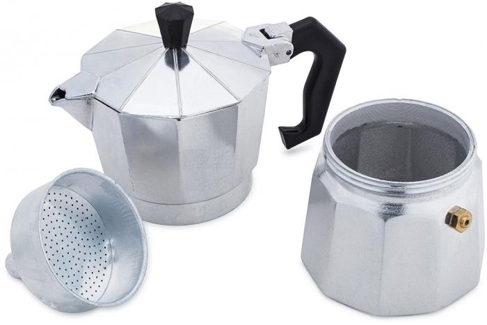 Espressor de cafea pentru Aragaz - 3 cesti, Aluminiu 0