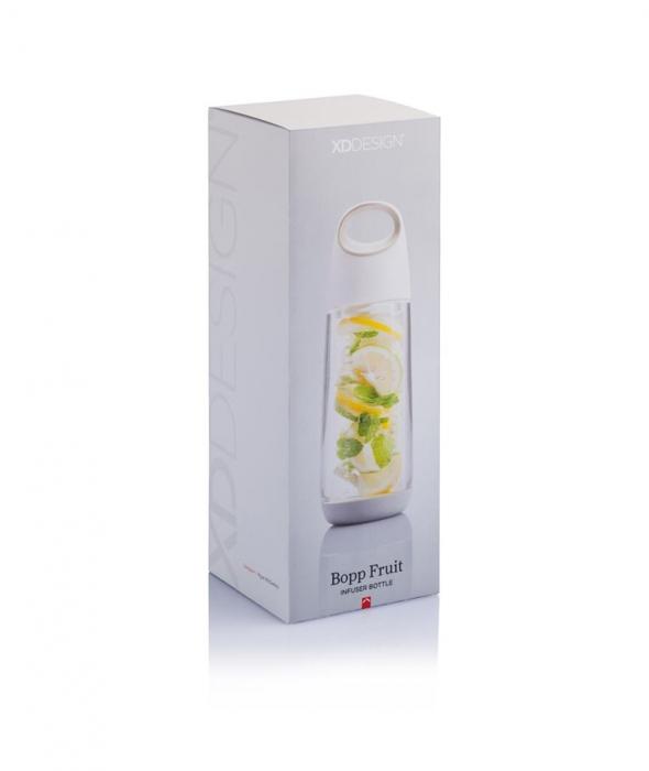 Sticla cu infuzor pentru fructe, Tritan, 650 ml, Bopp - Alba [3]