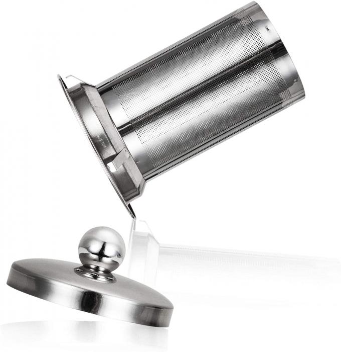 Ceainic din sticla Termorezistenta, capac si infuzor metalic, 800 ML 3