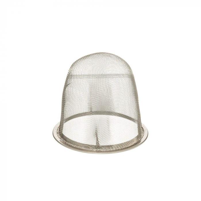 Ceainic Ceramic cu infuzor metalic, Alb, 750 ML 1