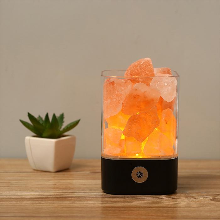 Lampa cu Sare de Himalaya, USB, Negru [0]